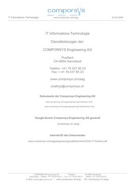 IT Informations-Technologie Dienstleistungen der: COMPORSYS