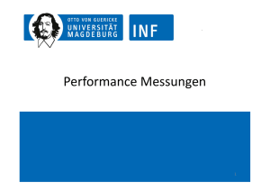 Performance Messungen