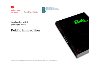 Public Innovation - Swiss Made Software