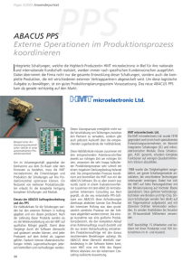 ABACUS PPS Externe Operationen im Produktionsprozess