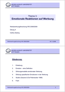 Emotionale Reaktionen auf Werbung - Georg-August