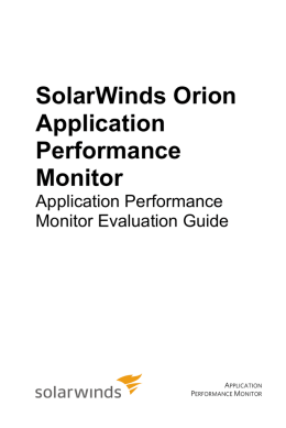 SolarWinds Orion Application Performance Monitor