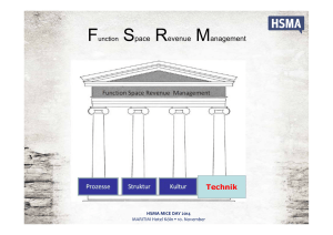 Function Space Revenue Management Technik
