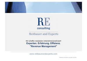 Revenue Management - Reitbauer and Experts