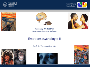 Emotionspsychologie II