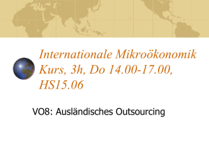 Grundmodell des Outsourcing