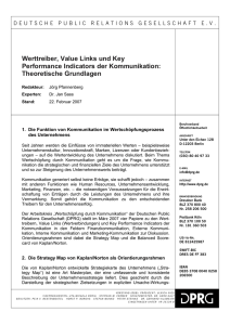 Werttreiber, Value Links und Key Performance Indicators der
