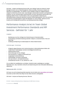 Performance Analyst (m/w) im Team Global Investment Performance