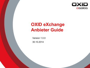 OXID eXchange Anbieter Guide