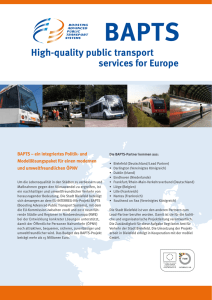 High-quality public transport services for Europe