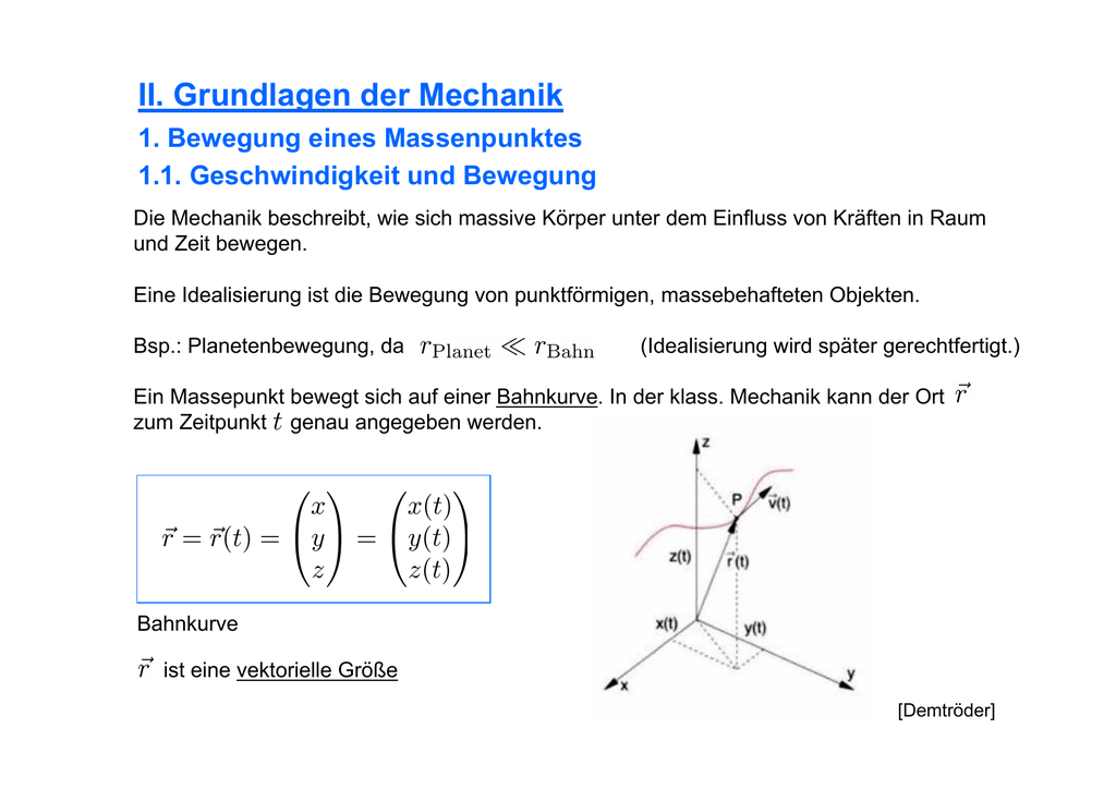 bewegung theoretische grundlagen