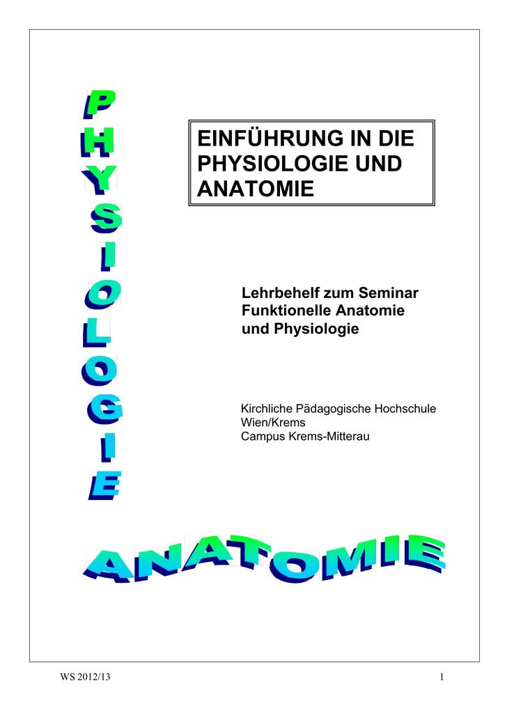 Skriptum Anatomie / Physiologie