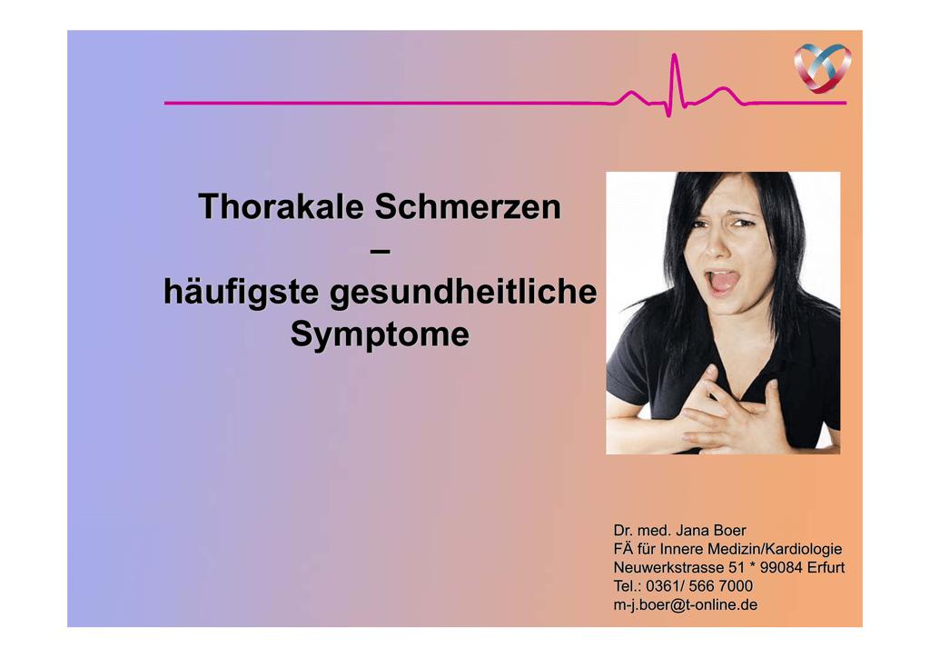 thorakale schmerzen