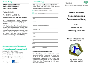 Flyer Einladung Basic Modul 3 28.01.08