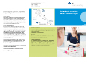Patienteninformation Akutschmerztherapie