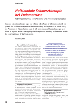Multimodale Schmerztherapie bei Endometriose