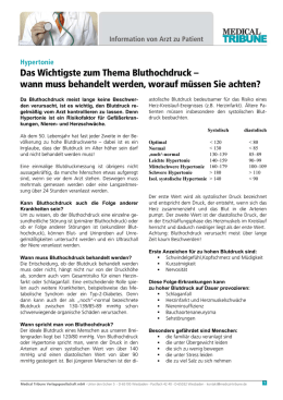 Bluthochdruck - Medical Tribune