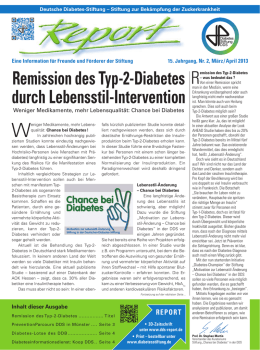 Remission des Typ-2-Diabetes durch Lebensstil