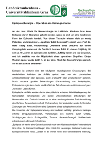 Epilepsiechirurgie – Operation als Heilungschance