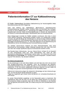 Patienteninformation CT Herz
