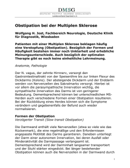 Obstipation bei der Multiplen Sklerose