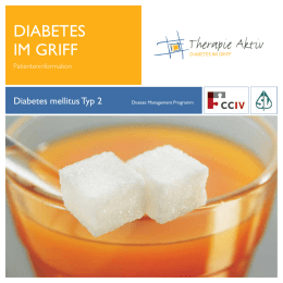 Diabetes im Griff - Patienteninformation