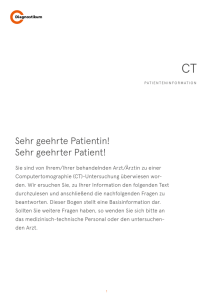 CT Patienteninformation