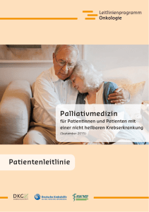 "Patientenleitlinie ""Palliativmedizin"