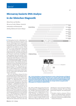Microarray-basierte DNA-Analyse in der klinischen Diagnostik