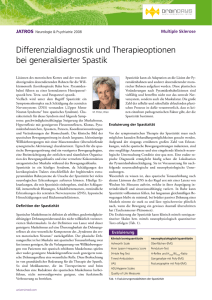 Differenzialdiagnostik und Therapieoptionen bei