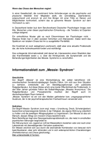 "Informationsblatt zum ""Messie- Syndrom"" - vincent"