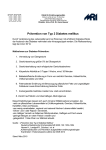 Prävention von Typ 2 Diabetes mellitus