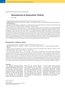 Biomonitoring als diagnostische Methode