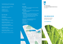 Flyer Neurologie