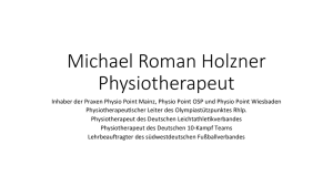 Michael Roman Holzner Physiotherapeut