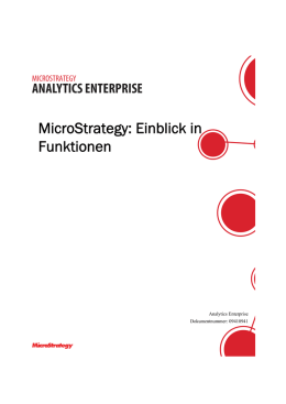 MicroStrategy: Einblick in Funktionen