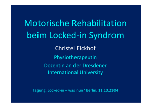 Motorische Rehabilitation beim Locked