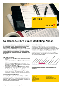 So planen Sie Ihre Direct-Marketing-Aktion