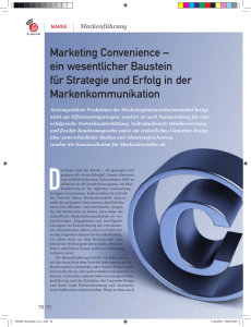 Marketing Convenience – ein wesentlicher Baustein für
