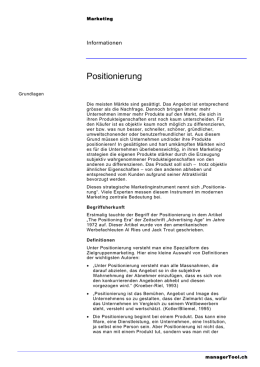Positionierung - managerTool