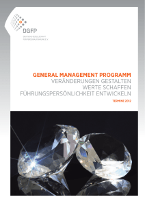 GENERAL MANAGEMENT PROGRAMM VERÄNDERUNGEN