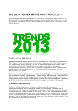 die wichtigsten marketing-trends 2013