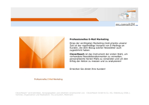 Professionelles E-Mail Marketing Eines der wichtigsten Marketing