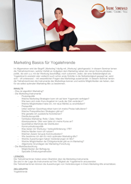 Marketing Basics für Yogalehrende