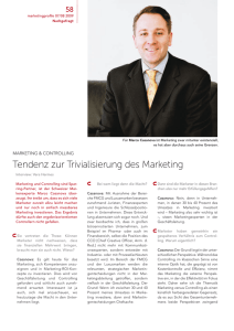 Tendenz zur Trivialisierung des Marketing