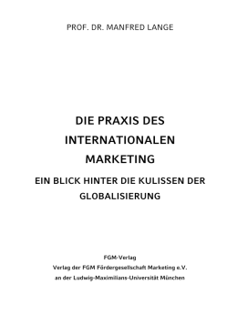 Die Praxis des Internationalen Marketing