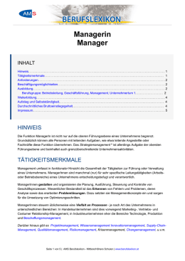 Managerin Manager