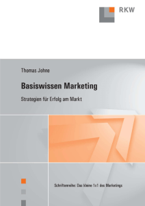 PDF-Auszug: Basiswissen Marketing