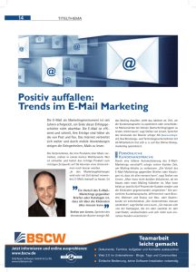 Positiv auffallen: Trends im E-Mail Marketing - IHK Bonn/Rhein-Sieg