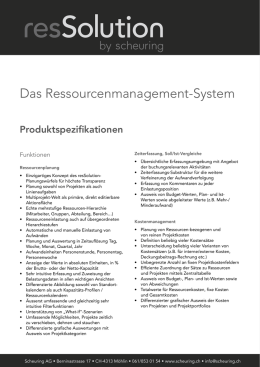 Das Ressourcenmanagement-System